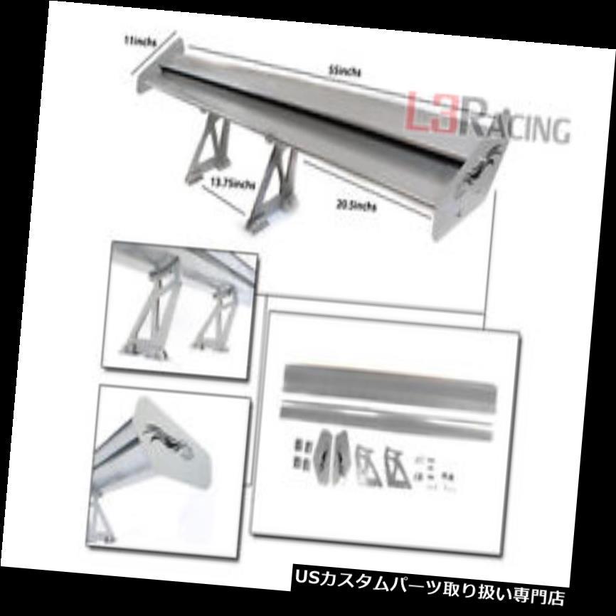 GTウィング RTUNES RACING GTタイプVシルバーアジャスタブルアルミスポイラーウイングミツビ RTUNES RACING GT Type V SILVER Adjustable Aluminum Spoiler Wing Mitsubi