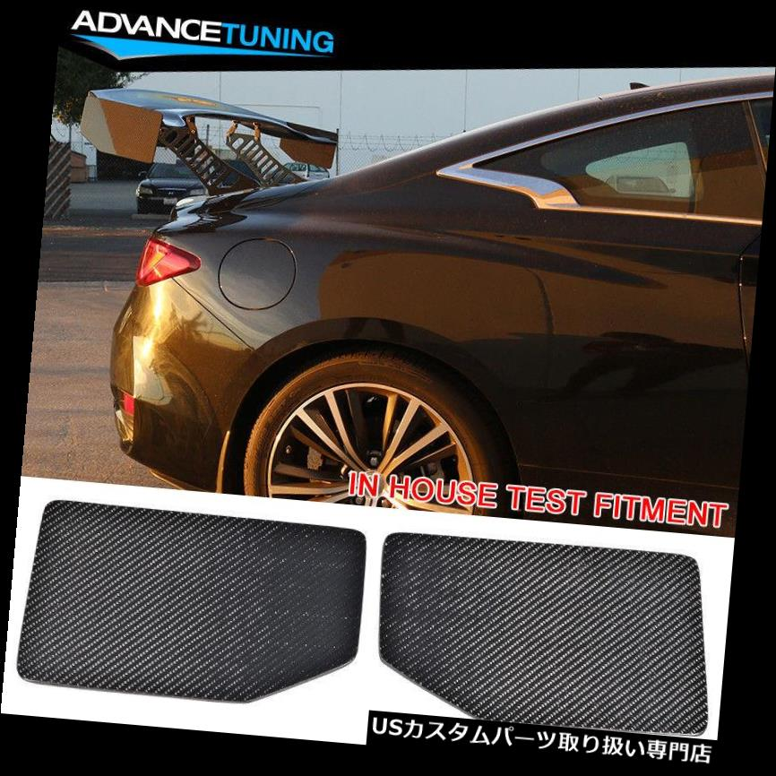 GTウィング V1様式の普遍的なGTのトランクのスポイラーの翼の側面の版はカーボン繊維CFを加えます V1 Style Universal GT Trunk Spoiler Wing Side Plate Add On Carbon Fiber CF