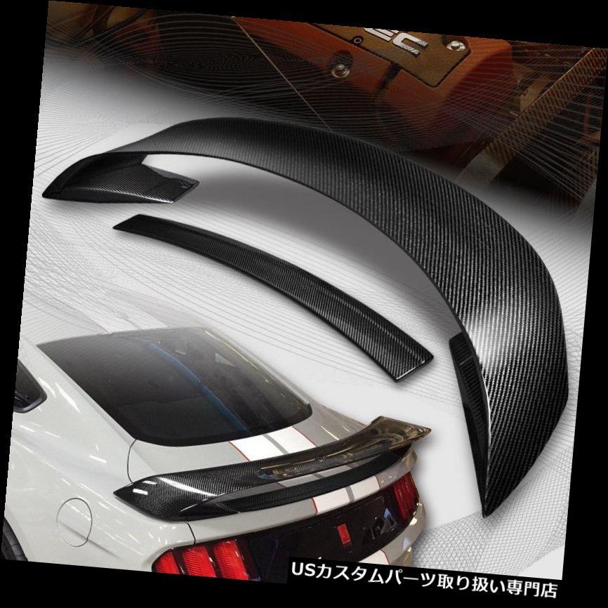 GTウィング 2015-2018フォードマスタングGT350Rスタイルリアルカーボンファイバーリアトランクスポイラー For 2015-2018 Ford Mustang GT350R Style Real Carbon Fiber Rear Trunk Spoiler