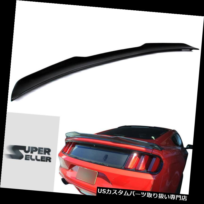 GTウィング フォードマスタング6th GT 2DクーペVルックリアトランクスポイラーウイング2015-2017 Ford Mustang 6th GT 2D Coupe V-look Rear Trunk Spoiler Wing 2015-2017