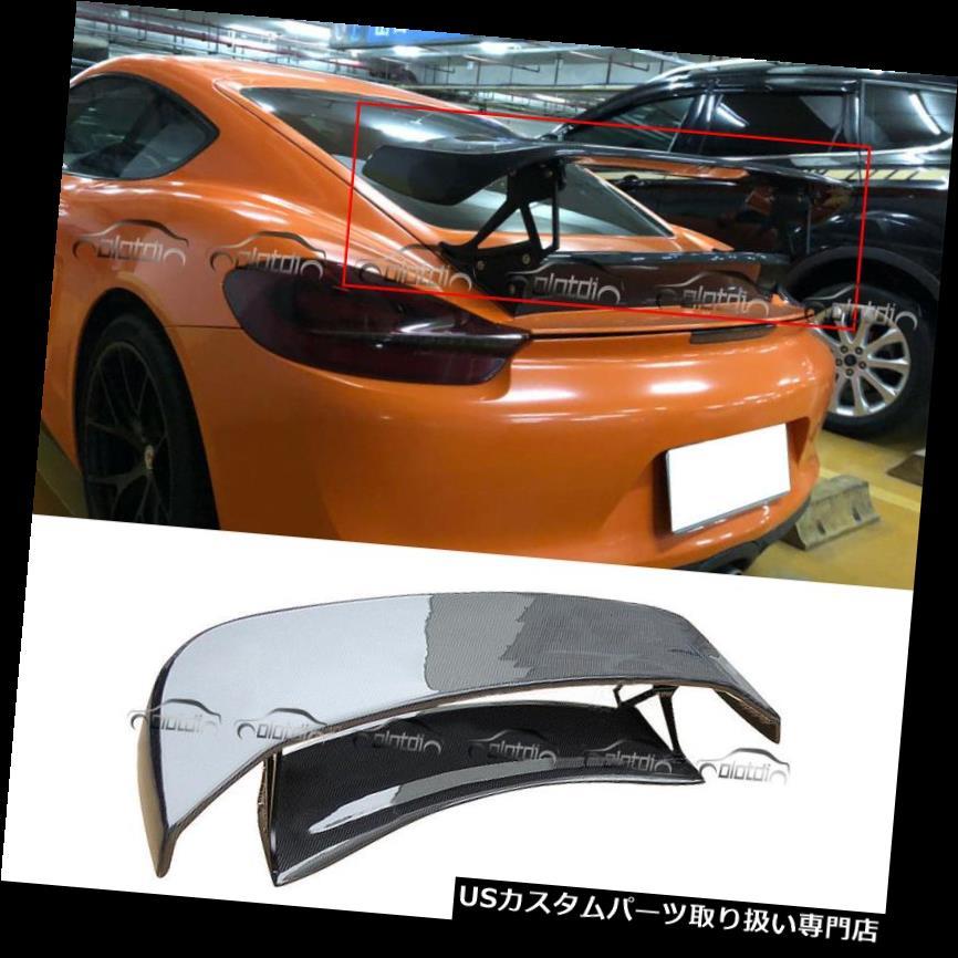 GTウィング Porsche Boxster 981 13-14用カーボンファイバーTechArtスタイルGTリアスポイラーウイング Carbon Fibre TechArt Style GT Rear Spoiler Wing for Porsche Boxster 981 13-14