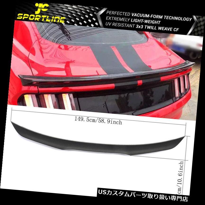 GTウィング 15-18フォードマスタングGTクーペトランクスポイラーカーボンファイバーCFにフィット Fits 15-18 Ford Mustang GT Coupe Trunk Spoiler Carbon Fiber CF