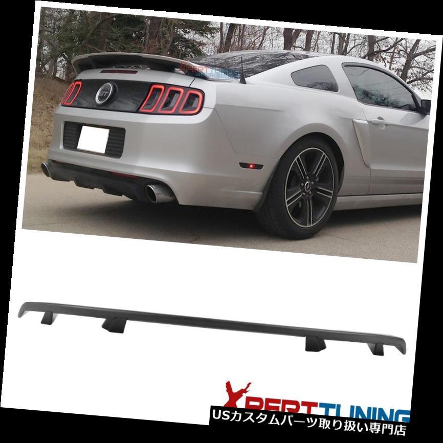 GTウィング 10-14フォードマスタングLSスタイルリアトランクスポイラーマットブラック - ABSにフィット Fits 10-14 Ford Mustang LS Style Rear Trunk Spoiler Matte Black - ABS