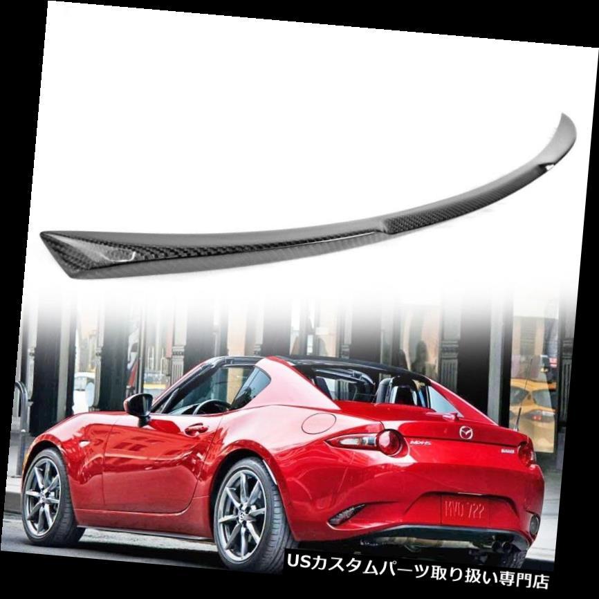 GTウィング カーボンファイバーマツダミアタMX-5ロードスターND 4th Vタイプリアトランクスポイラーウイング Carbon Fiber Mazda Miata MX-5 Roadster ND 4th V Type Rear Trunk Spoiler Wing