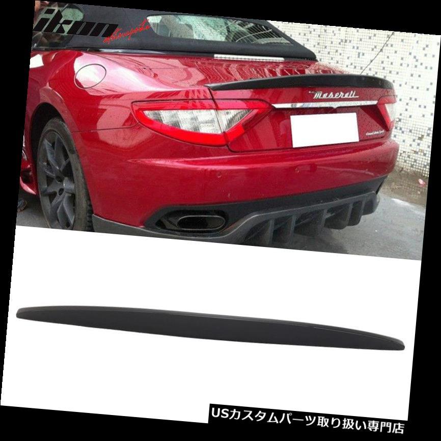 GTウィング 08-14マセラティグランツーリスモMC GT Sトランクスポイラーウイング - ABSにフィット Fits 08-14 Maserati Gran Turismo MC GT S Trunk Spoiler Wing - ABS