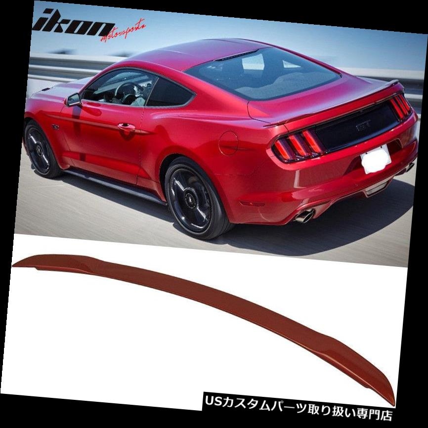 GTウィング 15-19フォードマスタングGTスタイルトランクスポイラー塗装ルビーレッド#RR - ABSに適合 Fits 15-19 Ford Mustang GT Style Trunk Spoiler Painted Ruby Red # RR - ABS