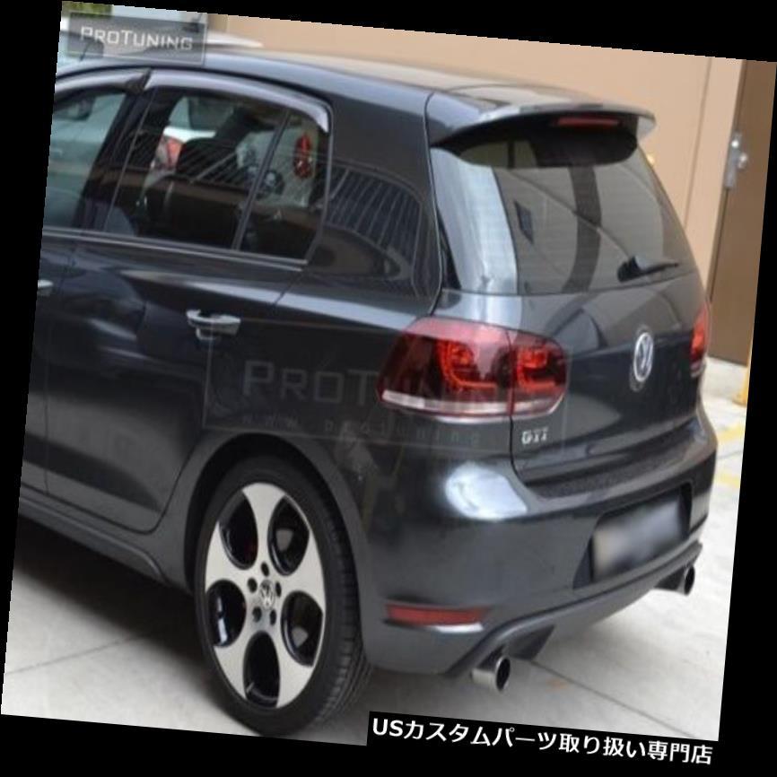 GTウィング GTIスポイラー用VWゴルフ6 VI MK6リアルーフドアウィングGTカバーテールゲートMK 6トリム GTI Spoiler For VW Golf 6 VI MK6 Rear Roof Door wing GT Cover Tailgate MK 6 Trim