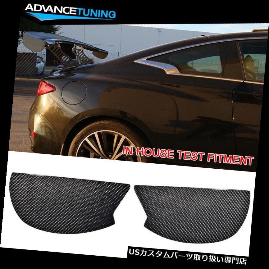GTウィング V3様式の普遍的なGTのトランクのスポイラーの翼の側面の版はカーボン繊維CFを加えます V3 Style Universal GT Trunk Spoiler Wing Side Plate Add On Carbon Fiber CF