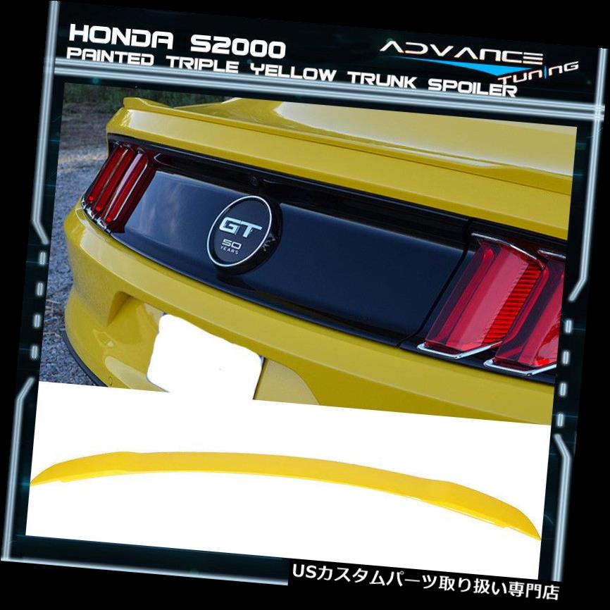 GTウィング 15-19フォードマスタングGTトランクスポイラーOEM塗装カラートリプルイエロー 15-19 Ford Mustang GT Trunk Spoiler OEM Painted Color Triple Yellow