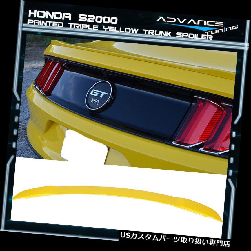 GTウィング 15-19フォードマスタングGTトランクスポイラーOEM塗装カラートリプルイエロー 15-19 Ford Mustang GT Trunk Spoiler OEM Painted Color Triple Yellow