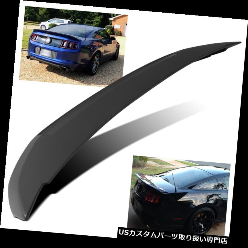 GTウィング 2010-2014フォードマスタングGTスタイルファクトリーフラッシュブラックリアトランクスポイラーウイング For 2010-2014 Ford Mustang GT Style Factory Flush Black Rear Trunk Spoiler Wing