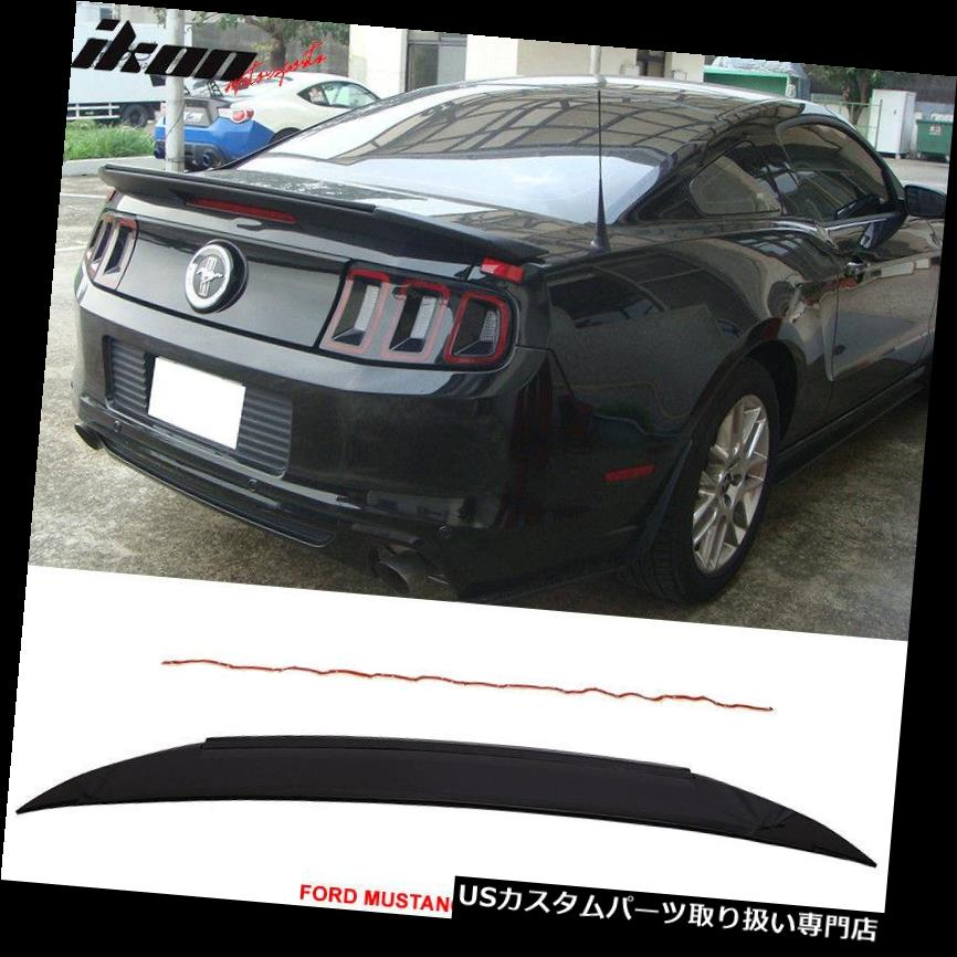 GTウィング フィット10-14マスタングシェルビーGT V6 GT500スタイルトランクスポイラー塗装#UAエボニー Fits 10-14 Mustang Shelby GT V6 GT500 Style Trunk Spoiler Painted # UA Ebony