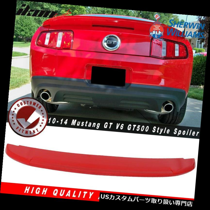 GTウィング 10?14マスタングGT V 6 GT 500スタイルトランクスポイラー塗装#PQレースレッド Fits 10-14 Mustang GT V6 GT500 Style Trunk Spoiler Painted # PQ Race Red