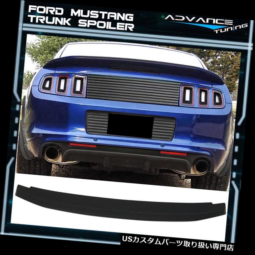 GTウィング マットブラックフィット10-14フォードマスタングGT V8フラッシュマウントトランクスポイラーOEスタイルABS Matte Black Fits 10-14 Ford Mustang GT V8 Flush Mount Trunk Spoiler OE Style ABS