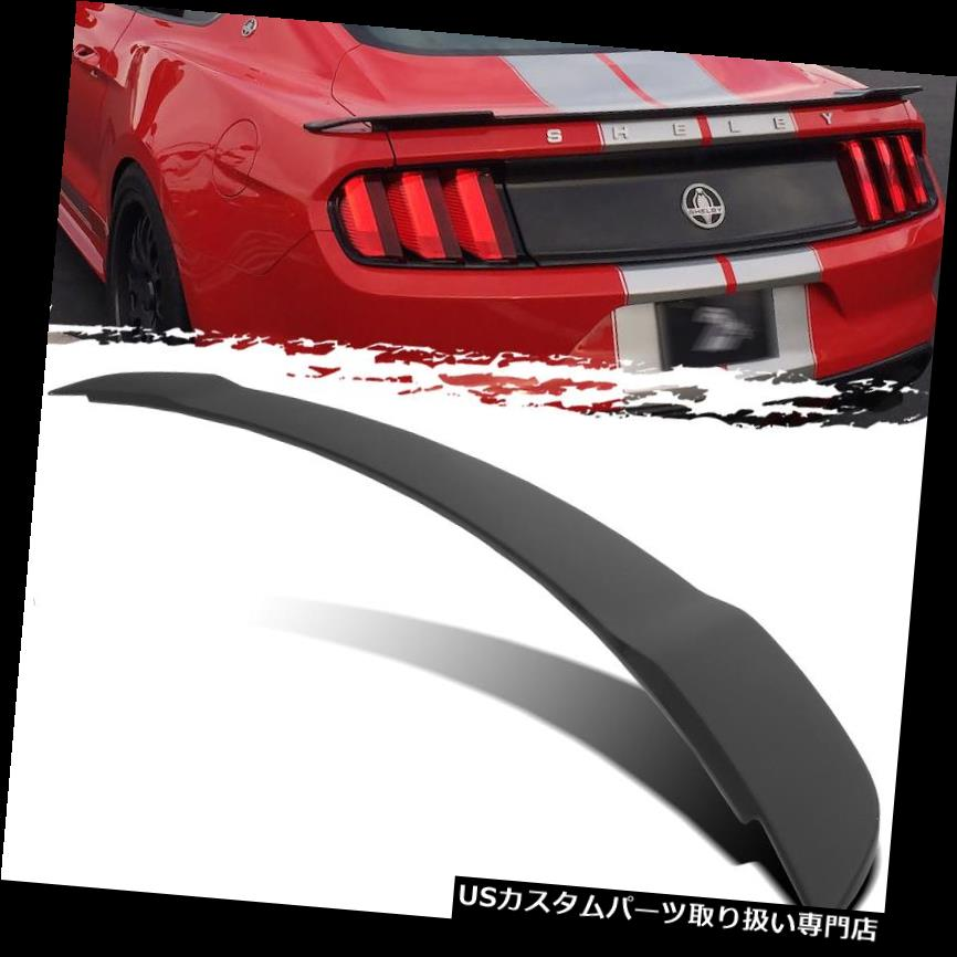 GTウィング 15-19用マスタングGT500ダックテールスタイル未塗装トランクデッキ蓋スポイラー翼 For 15-19 Mustang GT500 Duck Tail Style Unpainted Trunk Deck Lid Spoiler Wing