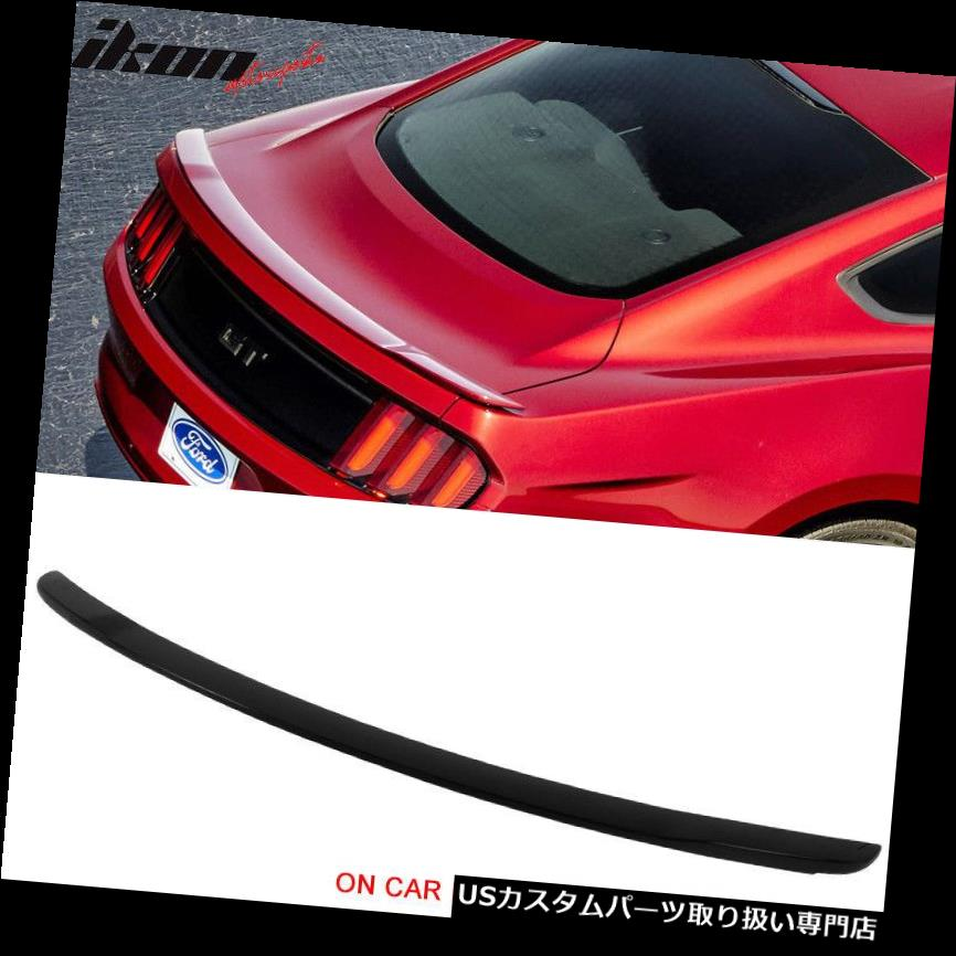 GTウィング フィット15-19フォードマスタング2Dr GTスタイル塗装トランクスポイラーウイング#UA黒檀 Fits 15-19 Ford Mustang 2Dr GT Style Painted Trunk Spoiler Wing #UA Ebony