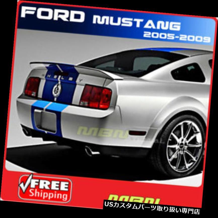 GTウィング 05-09用フォードマスタングクーペコブラリアトランクスポイラーGT塗装UAピッチブラック For 05-09 Ford Mustang Coupe Cobra Rear Trunk Spoiler GT Painted UA PITCH BLACK