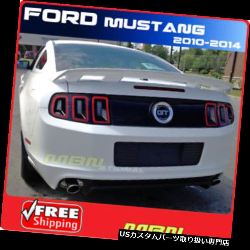 GTウィング のために2010+フォードマスタング4台座スポイラー塗装ABS GTベースクーペPQレースレッド For 2010+ Ford Mustang 4 Pedestal Spoiler Painted ABS GT Base Coupe PQ RACE RED