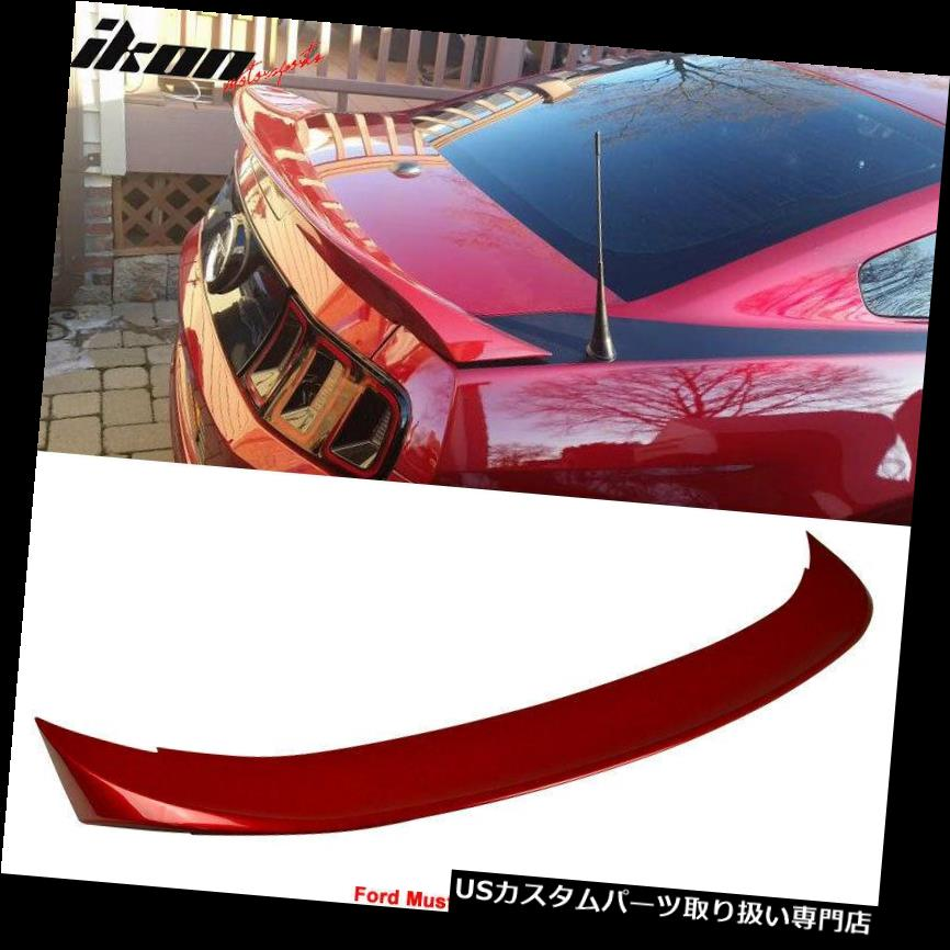 GTウィング フィット10-14フォードマスタングDスタイルトランクスポイラー塗装レッドキャンディー#U6 Fits 10-14 Ford Mustang D Style Trunk Spoiler Painted Red Candy # U6