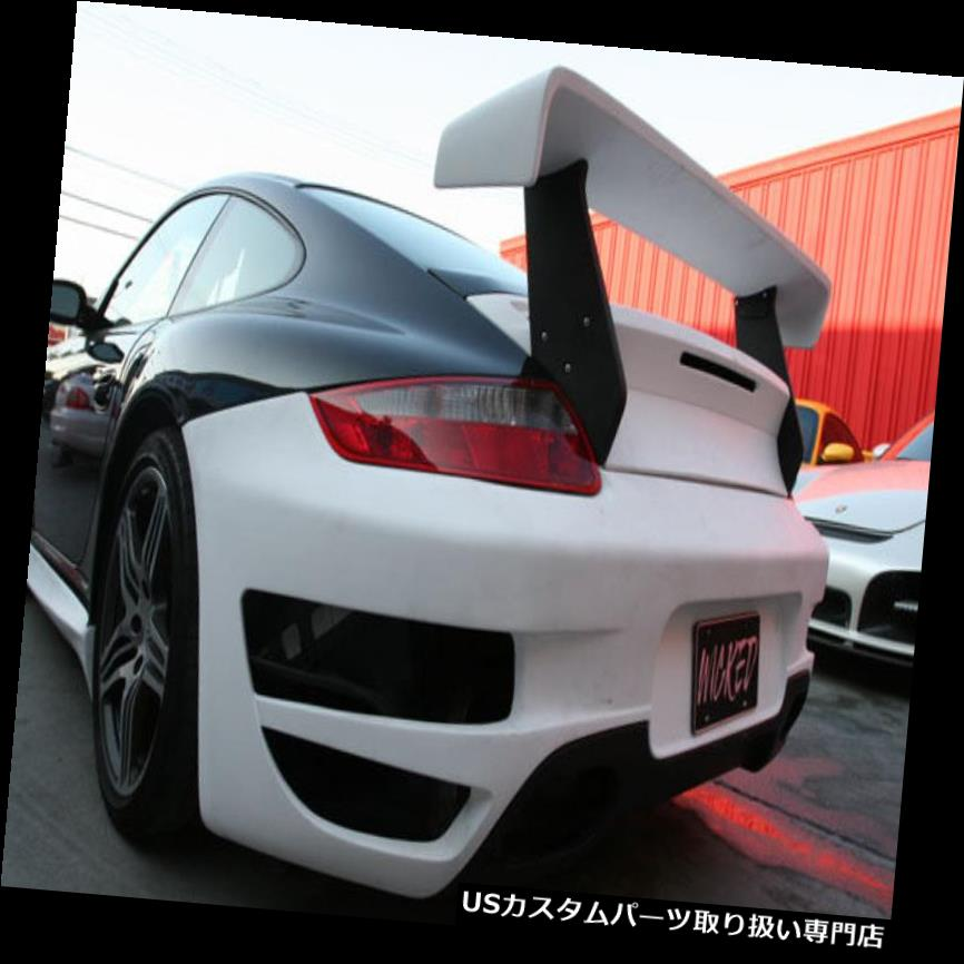 GTウィング 997ターボクーペ用のポルシェ997 GTトランクスポイラーウイング。 カブリオレ2007年から2012年 Porsche 997 GT Trunk Spoiler Wing for 997 Turbo Coupe & Cabriolet 2007 to 2012