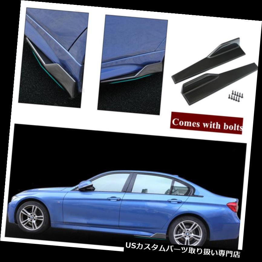 """Four 6/"""" Bumper Canard Splitter Fin Wing Spoiler Diffuser Set for Subaru Mazda"""