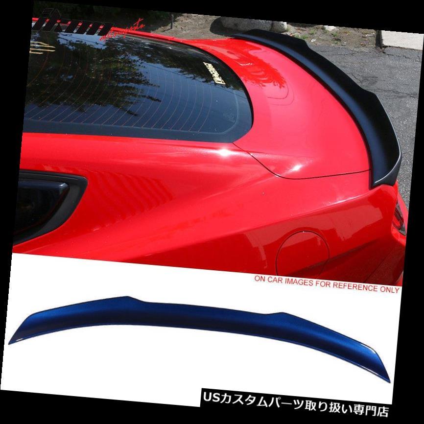 GTウィング フィット15-19マスタングハイキック塗装トランクスポイラー#J4ディープインパクトブルーメタリック Fits 15-19 Mustang High Kick Painted Trunk Spoiler #J4 Deep Impact Blue Metallic