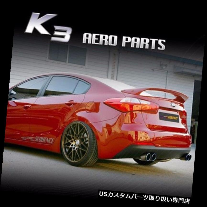 GTウィング KIA Forte K3 Sedan 2014+用SEQUENCE SPEC-GTリアウィングスポイラー SEQUENCE SPEC-GT Rear Wing Spoiler for KIA Forte K3 Sedan 2014+