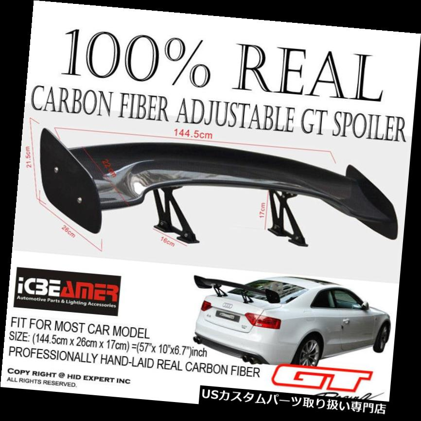 GTウィング JDMリアルカーボンファイバーGTスタイルレーシングバックリアトランクスポイラーウイングブラケットB54 JDM Real Carbon Fiber GT Style Racing Back Rear Trunk Spoiler Wing Brackets B54