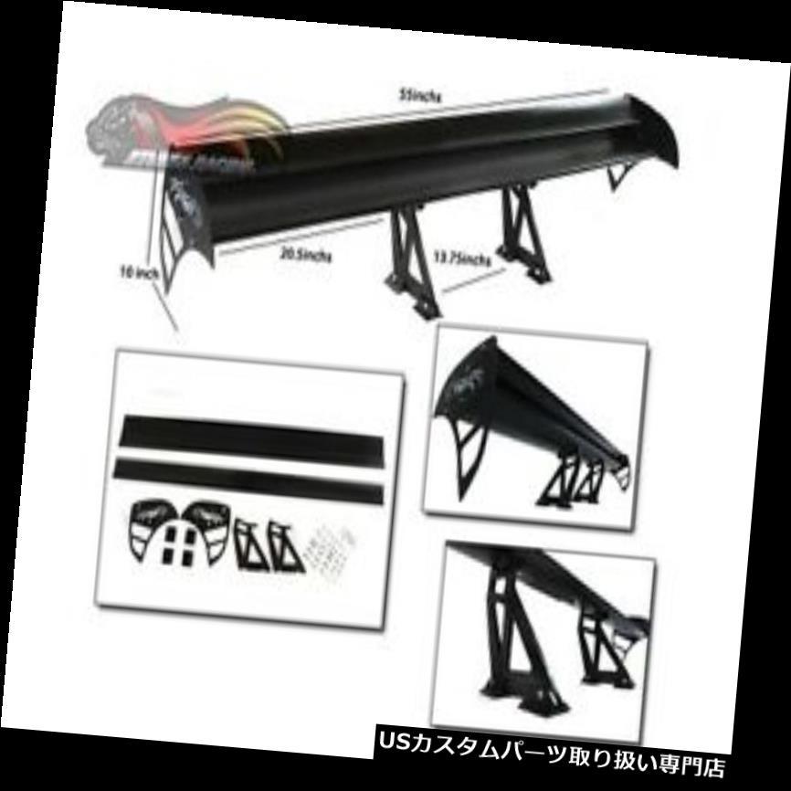 GTウィング いすゞ用GTウィングタイプSレーシングアルミ調整可能リアスポイラーブラック1 GT Wing Type S Racing Aluminum Adjustable Rear Spoiler BLACK For Isuzu 1