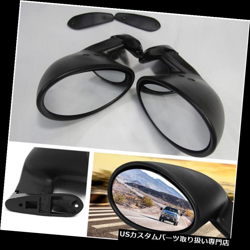 GTウィング 1ペアクラシックカードアウイングサイドビューミラープレーンミラーマットブラックハウジング 1 Pair Classic Car Door Wing Side View Mirror Plane Mirror Matte Black Housing