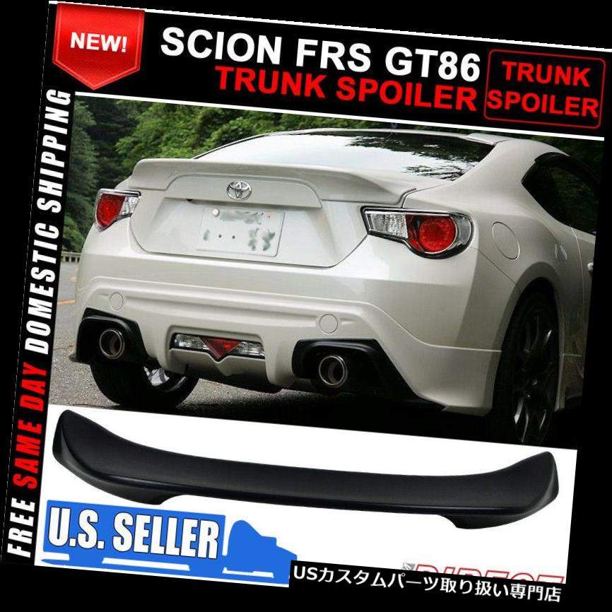 GTウィング フィット12 13 14 15 Scion FRS GT86 TR-Dスタイル未塗装トランクスポイラーウイング - ABS Fits 12 13 14 15 Scion FRS GT86 TR-D Style Unpainted Trunk Spoiler Wing - ABS