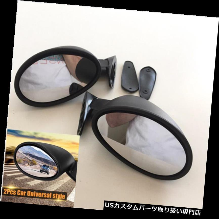 GTウィング 2xユニバーサルクラシックカードアサイドウィングミラー& A ガスケットヴィンテージマットブラックL + R 2x Universal Classic Car Door Side Wing Mirror & Gaskets Vintage Matte Black L+R