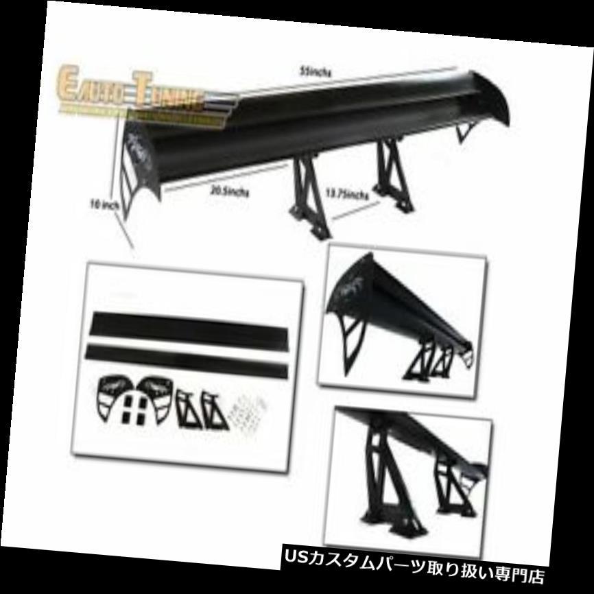 GTウィング ビュイック3のためのGTの翼のタイプSアルミニウム二重デッキの調節可能な後部スポイラーの黒 GT Wing Type S Aluminum Double Deck Adjustable Rear Spoiler BLACK For Buick 3
