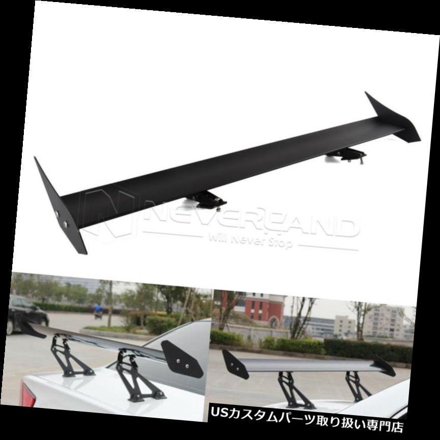 GTウィング 110cmユニバーサルカーリアウイングスポイラー軽量アルミブラケットシングルデッキ 110cm Universal Car Rear Wing Spoiler Lightweight Aluminum Bracket Single Deck