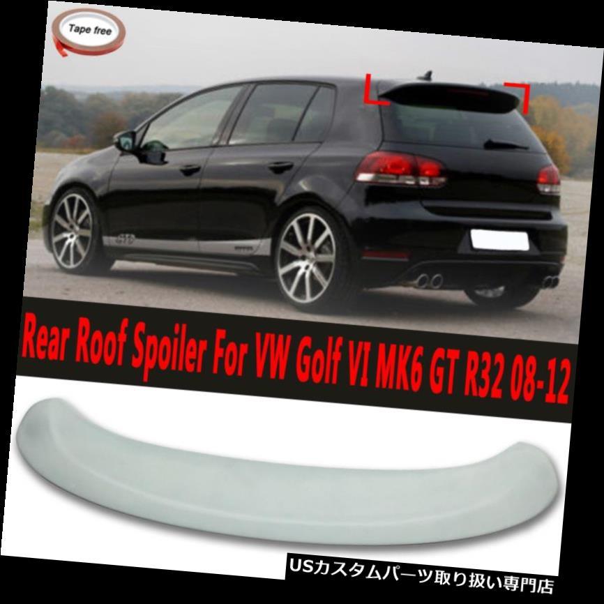 GTウィング VWゴルフVI MK6 GT R32 2008-2012用リアトランクルーフスポイラーブーツリップウィングフィット Rear Trunk Roof Spoiler Boot Lip Wing Fits For VW Golf VI MK6 GT R32 2008-2012
