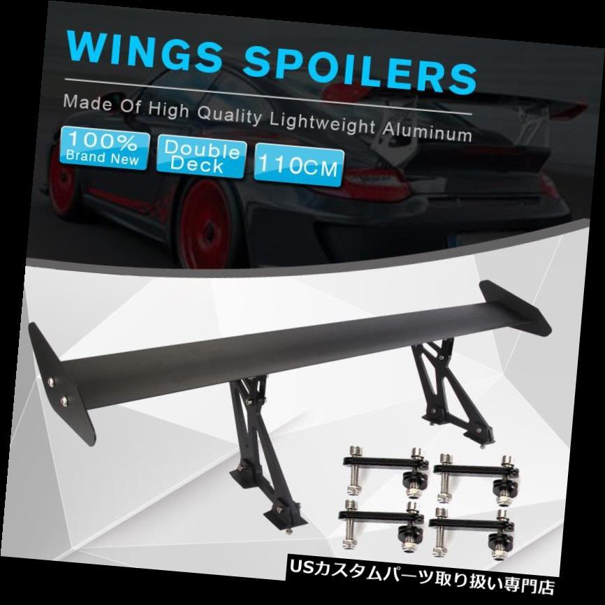 GTウィング 110cm 43インチユニバーサルハッチバックアルミGTオートリアトランクレーシングスポイラーウイング 110cm 43'' Universal Hatchback Aluminum GT Auto Rear Trunk Racing Spoiler Wings