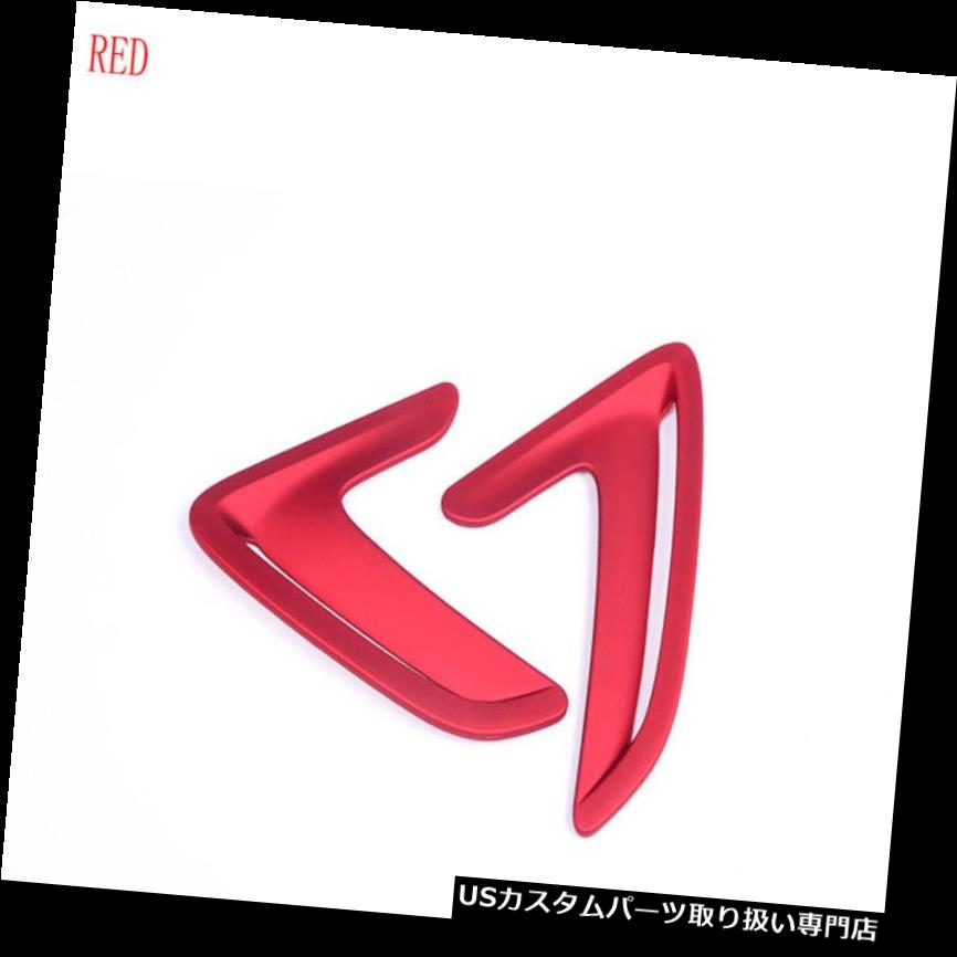 GTウィング オート2ピースレッドエアウィングベントトリムカバーサイドマーカーフェンダー用BMW 3シリーズGT AUTO 2PCS RED Air wing Vent Trim Cover Side Marker Fender For BMW 3 series GT