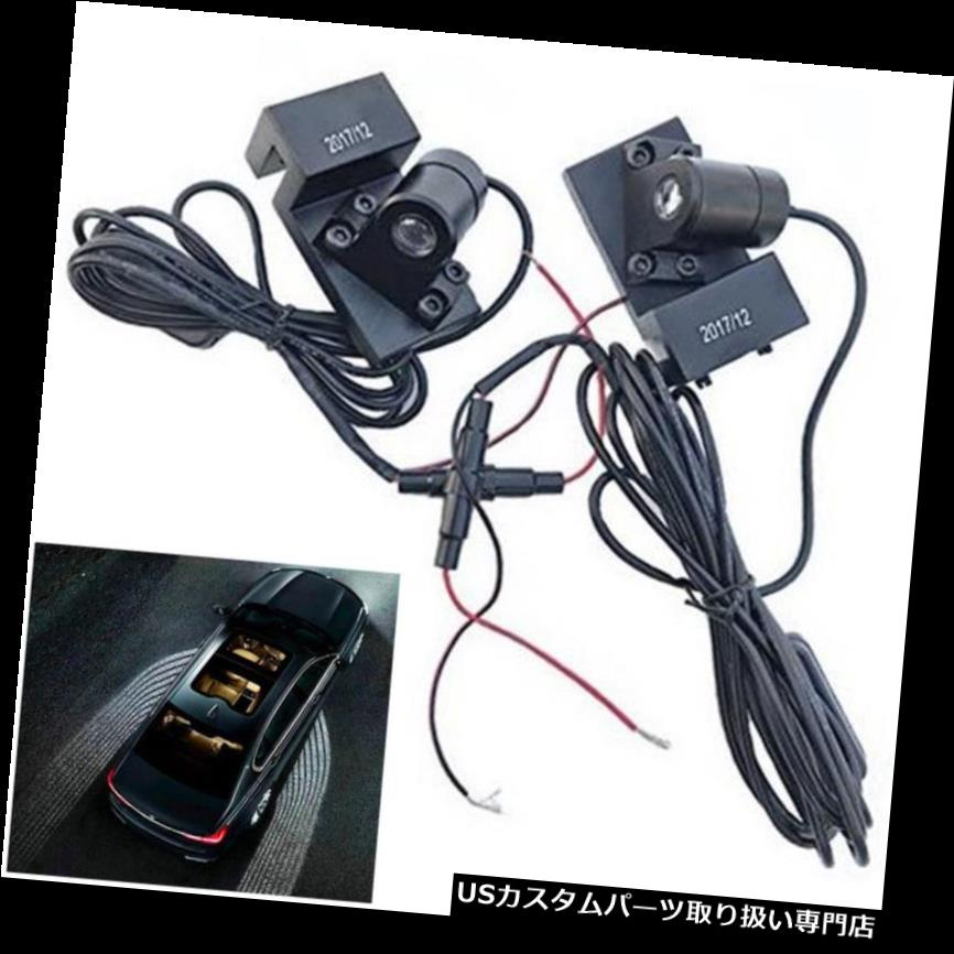 GTウィング 2ピース車のドアへようこそライト礼儀天使の羽投影LEDプロジェクターライト 2pc Car Door Welcome Lights Courtesy Angel Wings Projection LED Projector Lights