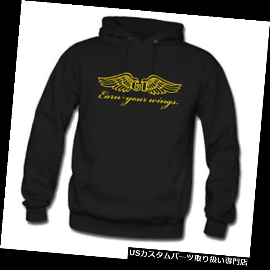 GTウィング GT自転車BMXウィングブラックパーカーフード付きスウェットメンズS-3XL GT Bicycle BMX Earn Your Wing Black Hoodie Hooded Sweatshirt Men's S-3XL