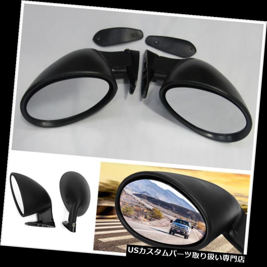 GTウィング ペアユニバーサルカークラシックドアウィングサイドミラー付きガスケットヴィンテージブラック Pair Universal Car Classic Door Wing Side View Mirror with Gaskets Vintage Black