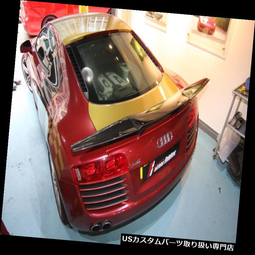 GTウィング FRレーシングデザインカーボンファイバーGTリアウィングスポイラーフィットアウディ2009-12 R8 V8 V10用 FR Racing design carbon fiber GT rear wing spoier fit for AUDI 2009-12 R8 V8 V10