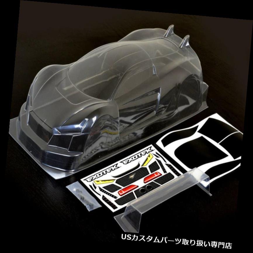 GTウィング エクソテック1863 1/10 R-TEK GT 190mmクリアレキサンボディウィング付きR-TEK Exotek 1863 1/10 R-TEK GT 190mm Clear Lexan Body w/ Wing R-TEK