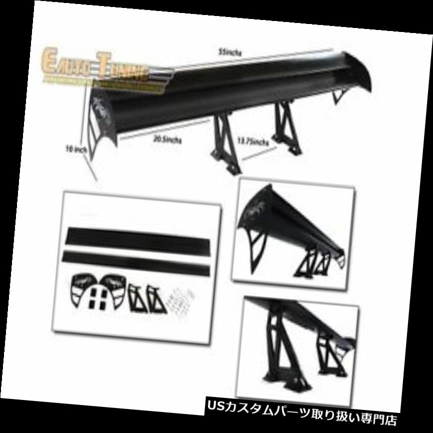 GTウィング ヒュンダイのためのGTの翼のタイプSアルミニウム二重デッキの調節可能な後部スポイラーの黒 GT Wing Type S Aluminum Double Deck Adjustable Rear Spoiler BLACK For Hyundai