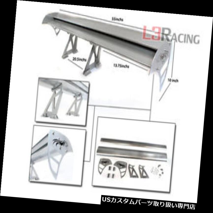 GTウィング RTUNES RACING GT Type Sシルバー調節可能なアルミスポイラーウィングフィットスバル RTUNES RACING GT Type S SILVER Adjustable Aluminum Spoiler Wing Fit For Subaru