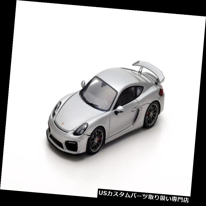 GTウィング S4941スパーク:1/43ポルシェケイマンGT4 2016シルバーロープロファイルタイヤとリアウイング S4941 Spark: 1/43 Porsche Cayman GT4 2016 Silver Low Profile Tires and Rear Wing
