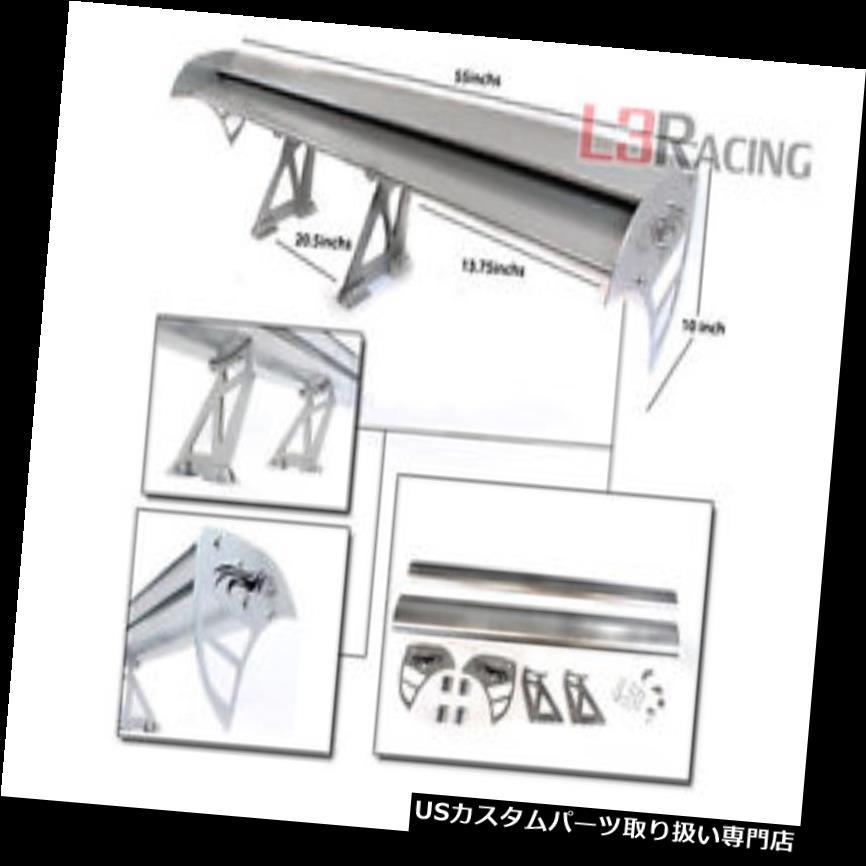 GTウィング RTUNES RACING GT Type Sシルバーアジャスタブルアルミスポイラーウイングトヨタ RTUNES RACING GT Type S SILVER Adjustable Aluminum Spoiler Wing Toyota