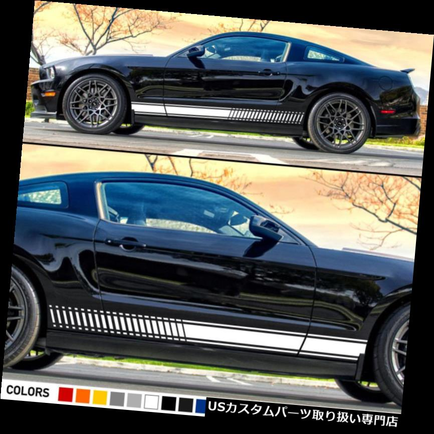 GTウィング フォードマスタングGT 500フェンダーウィングリップ用デカールステッカーグラフィックストライプボディキット Decal Sticker Graphic Stripes Body Kit For Ford Mustang GT 500 Fender Wing Lip