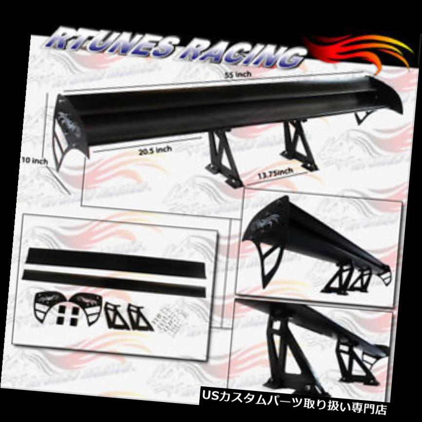 GT Wing Type S Racing Aluminum Adjustable Rear Spoiler BLACK For Mazda 2