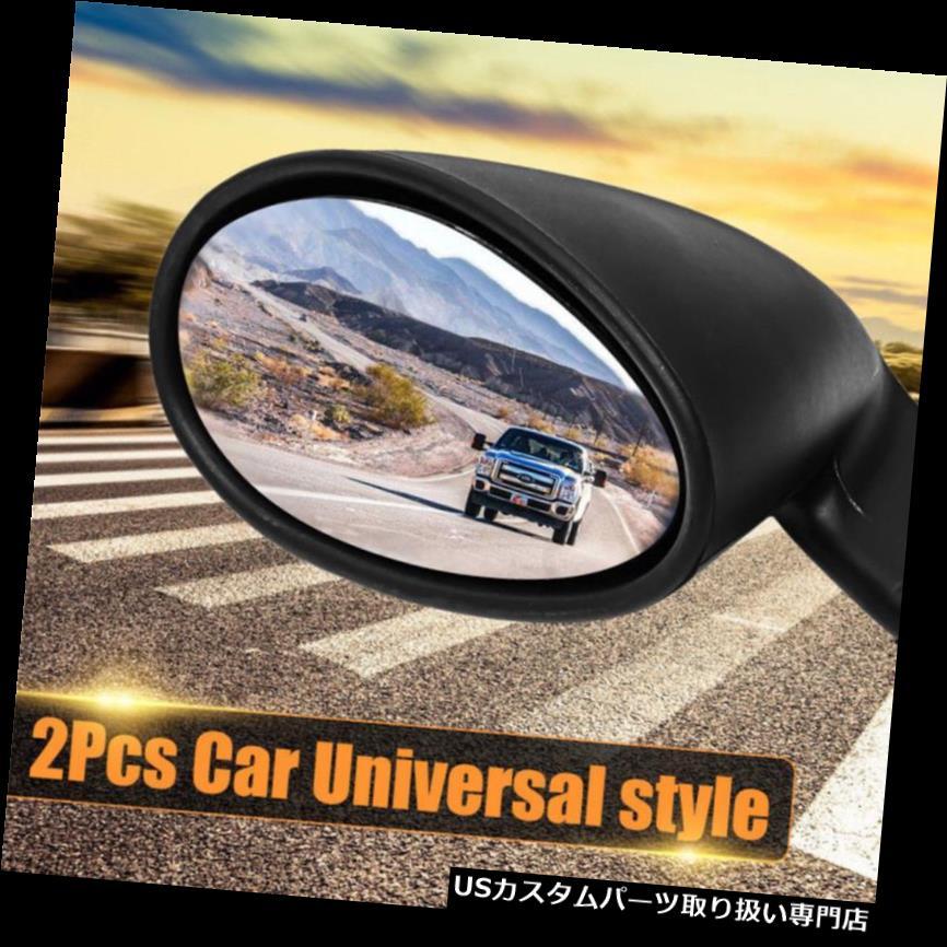 GTウィング 2倍ヴィンテージブラッククラシックスタイルカーSUVドアウイングブルーサイドビューミラーユニバーサル 2x Vintage Black Classic Style Car SUV Door Wing Blue Side View Mirror Universal