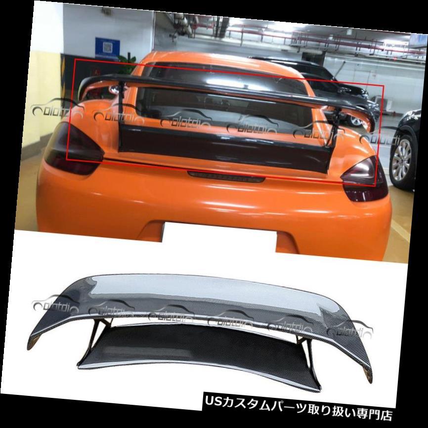 【爆売り!】 GTウィング TechArtスタイルカーボンファイバーGTリアスポイラーウィング用ポルシェボクスター981 13-14 TechArt Style Carbon Fibre GT Rear Spoiler Wing for Porsche Boxster 981 13-14, タマリムラ 516a0422